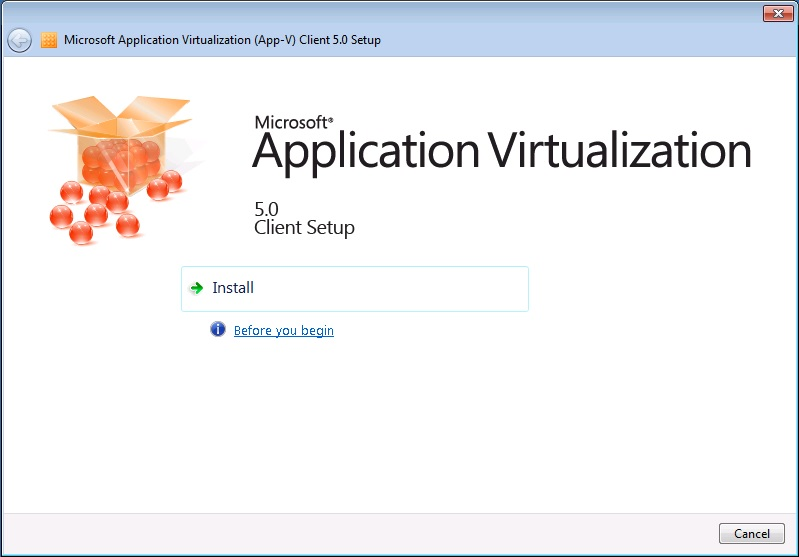 Installing the App-V 5 0 Client and configuring it with a