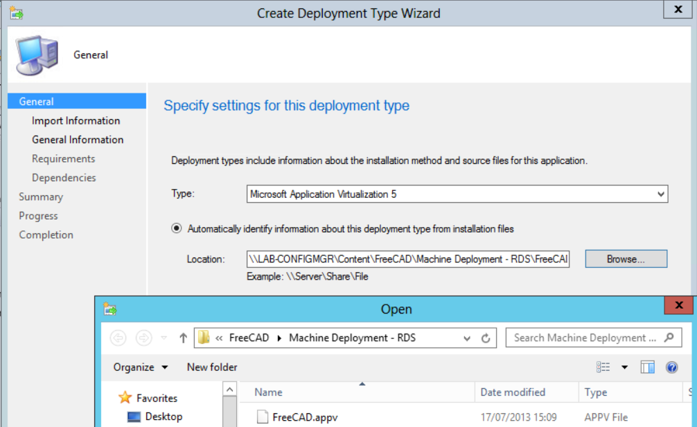 create deployment type 2
