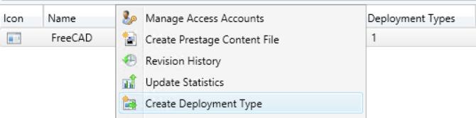 create deployment type