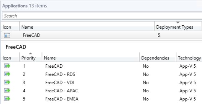 multiple deployment types